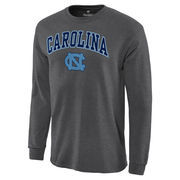 Men's Charcoal North Carolina Tar Heels Campus Long Sleeve T-Shirt
