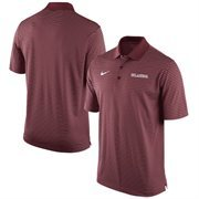 Men's Nike Crimson Oklahoma Sooners Stadium Stripe Performance Polo