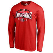 Men's Fanatics Branded Red San Diego State Aztecs 2016 Mountain West Conference Football Champions Long Sleeve T-Shirt