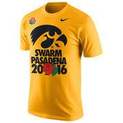 Men's Nike Gold Iowa Hawkeyes 2016 Rose Bowl Bound T-Shirt