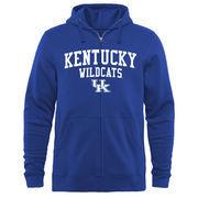 Men's Royal Kentucky Wildcats Arched School Name & Mascot Full-Zip Hoodie