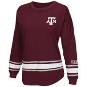 Women's Colosseum Maroon Texas A&M Aggies All Around Oversized Long Sleeve T-Shirt