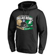 Men's Fanatics Branded Black Army Black Knights vs. North Texas Mean Green 2016 Heart of Dallas Bowl Motion Matchup Pullover Hoo