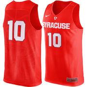Men's Nike #10 Orange Syracuse Orange Authentic Basketball Jersey