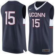 Men's Nike #15 Navy UConn Huskies Replica Jersey