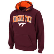 Men's Stadium Athletic Maroon Virginia Tech Hokies Arch & Logo Pullover Hoodie