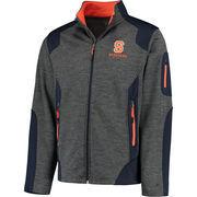 Men's Colosseum Charcoal Syracuse Orange Double Coverage Full Zip Jacket
