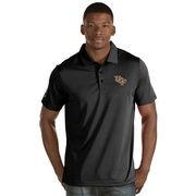 Men's Antigua Black UCF Knights Quest Stripe Jersey Polo