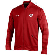 Men's Under Armour Red Wisconsin Badgers Knockout Warm-Up Jacket