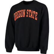 Men's Fanatics Branded Black Oregon State Beavers Basic Arch Sweatshirt