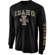 Mens Idaho Vandals Black Arch & Logo Long Sleeve T-Shirt