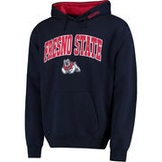 Men's Navy Fresno State Bulldogs Arch & Logo Pullover Hoodie
