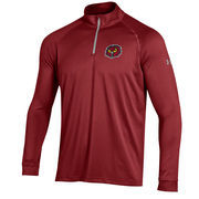 Men's Under Armour Cardinal Temple Owls 1/4 Zip Performance Top