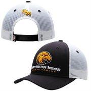Mens Southern Miss Golden Eagles Zephyr Black Basic Trucker Snapback Adjustable Hat