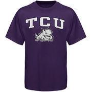 Men's New Agenda Purple TCU Horned Frogs Arch Over Logo T-Shirt