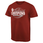 Men's Crimson Oklahoma Sooners 2016 NCAA Women's Gymnastics National Champions T-Shirt
