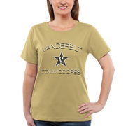 Women's Vanderbilt Commodores Gold Fade To Victory T-Shirt