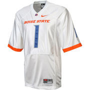 Nike Boise State Broncos #1 Twill Football Jersey - White