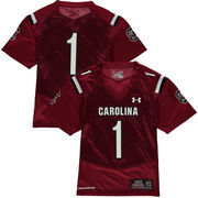 Youth Under Armour #1 Garnet South Carolina Gamecocks Replica Football Jersey