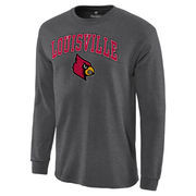 Men's Charcoal Louisville Cardinals Campus Long Sleeve T-Shirt