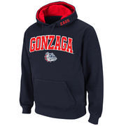 Men's Stadium Athletic Navy Gonzaga Bulldogs Arch & Logo Pullover Hoodie