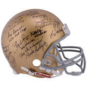 Notre Dame Fighting Irish Autographed Legends Pro Line Helmet with 33 Signatures and Multiple Inscriptions- #2-23 of a Limited E