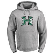 Men's Ash Hawaii Warriors Classic Primary Logo Pullover Hoodie