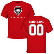 Men's Red New Mexico Lobos Personalized Basketball T-Shirt
