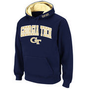Men's Stadium Athletic Navy Georgia Tech Yellow Jackets Arch & Logo Pullover Hoodie