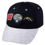 Men's Top of the World Black/Heather Gray Wisconsin Badgers vs. Western Michigan Broncos 2017 Cotton Bowl Dueling Adjustable Hat