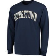 Men's Navy Georgetown Hoyas Basic Arch Long Sleeve T-Shirt