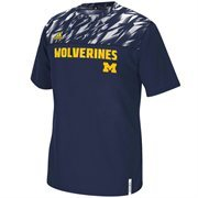 Men's adidas Navy Blue Michigan Wolverines 2015 Sideline Shockenergy Climalite T-Shirt