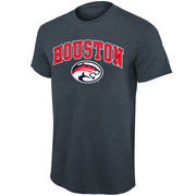 Mens Houston Cougars Dark Gray Mid Size Arch Over Logo T-Shirt