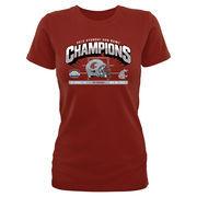 Women's Crimson Washington State Cougars 2015 Sun Bowl Champions Hash Mark Slim Fit T-Shirt