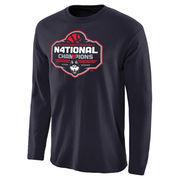 Men's Navy UConn Huskies 2016 NCAA Women's Basketball National Champions Logo Long Sleeve T-Shirt