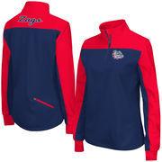 Women's Colosseum Navy Gonzaga Bulldogs Joust 1/4 Zip Jacket