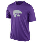 Nike Kansas State Wildcats Logo Legend Dri-FIT Performance T-Shirt - Purple