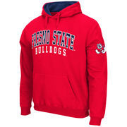 Men's Stadium Athletic Cardinal Fresno State Bulldogs Double Arches Pullover Hoodie