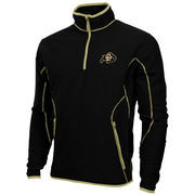 Mens Colorado Buffaloes Antigua Black Ice Quarter-Zip Fleece Jacket