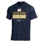 Men's Under Armour Navy Notre Dame Fighting Irish 2016 Fiesta Bowl Bound Tech Performance T-Shirt