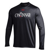 Men's Under Armour Black Cincinnati Bearcats Throwback Performance Long Sleeve T-Shirt