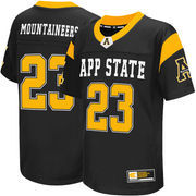 Youth Colosseum #23 Black Appalachian State Mountaineers Football Jersey