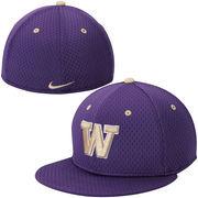 Men's Nike Purple Washington Huskies Authentic Fitted Performance Baseball Hat