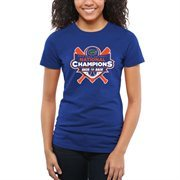 Women's Royal Florida Gators 2015 NCAA Women's Softball College World Series Champions Back-to-Back Slim Fit T-Shirt