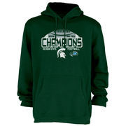 Men's Blue 84 Green Michigan State Spartans 2015 Big Ten Conference Football Champions Locker Room Pullover Hoodie