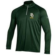 Men's Under Armour Hunter Green Baylor Bears 1/4 Zip Performance Top