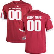 Youth Nike Cardinal Arkansas Razorbacks Custom Replica Jersey