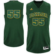 adidas Baylor Bears #55 Bleed Out Replica Jersey - Green