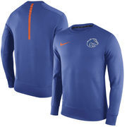 Men's Nike Royal Boise State Broncos Sideline KO Performance Fleece Crew Sweatshirt