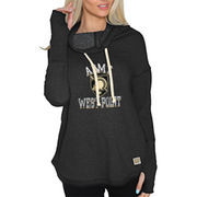 Women's Original Retro Brand Black Army Black Knights Triblend Funnel Neck Sweatshirt